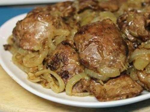 рецепты печени куриной со сметаной